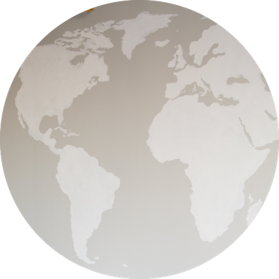 World map in gray